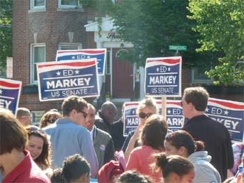 Markey Senate Camp Questioned for Campaigning at Memorial Day Service