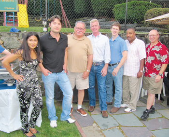 Saritin and David Rizzuto Hosted a Barbecue Party and Fundraiser