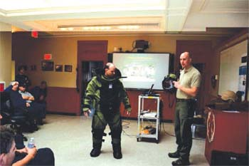 Fire Department Participates in Training with the Mass State Police Bomb Squad