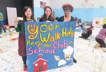 Chelsea Resident Paints Signs For Project Bread's Walk for Hunge