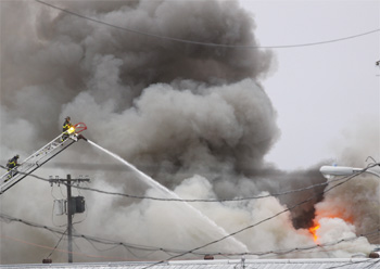 Fire at Suffolk Downs