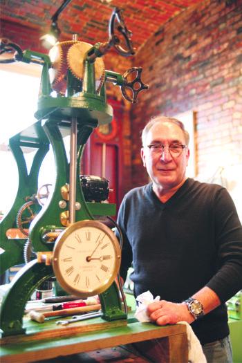 Noted Clock Repairman in Chelsea Tackles City Hall Clock Repair