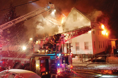 Chelsea Firefighters Battle a 3-Alarm Fire on Crescent Ave.