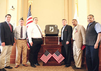 POW/MIA Chair Dedicated