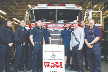 Chelsea Fire Dept Toy Drive