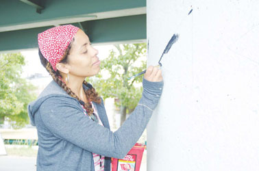 Chelsea Artist is Highlighted in New Mural on the Charles River Esplanade