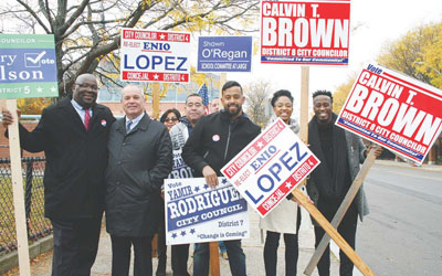 Robinson Topping Ticket, Rodriguez and Garcia Win District Contests:Brown, Bishop and Perlatonda Return to Council
