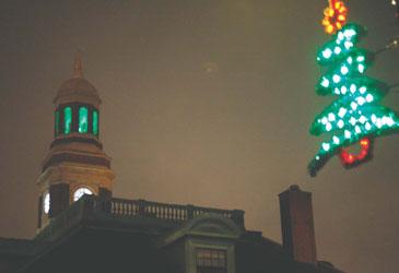 City Hall Clock Tower Unveils New Lighting Scheme