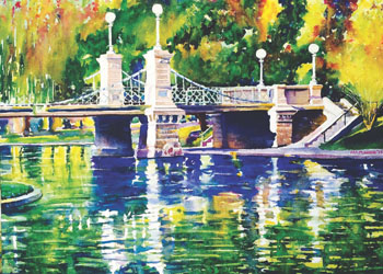 Local Artist at New England Water Color Society Signature Members Show