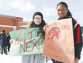 Students Stage Walk-Out at Chelsea High to Highlight School Safety