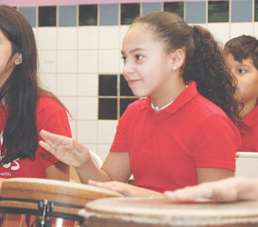 Berkowitz School Drum Corps Keeps the Beat Going