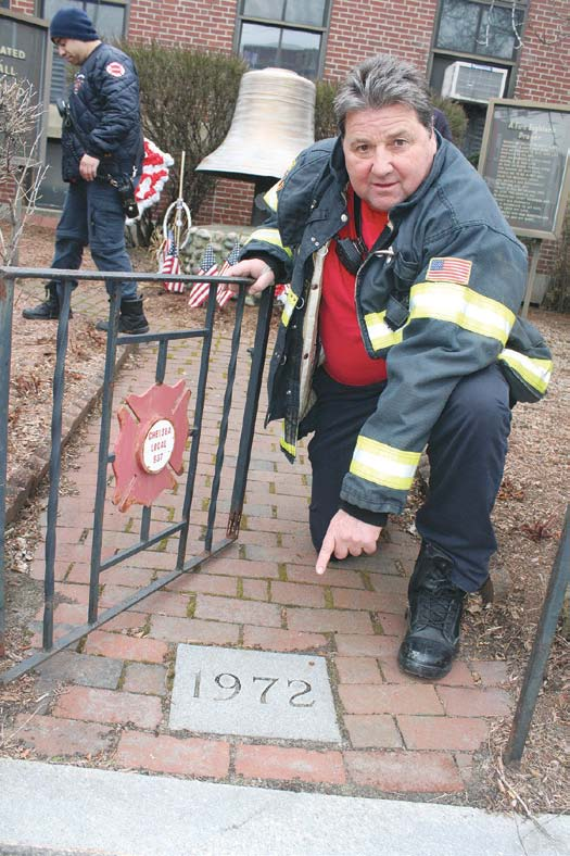 Fire Department Works To Renovate Firefighters Memorial